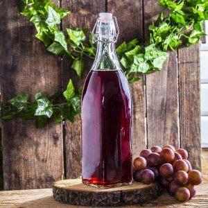 Butelka szklana z korkiem Kwadrat