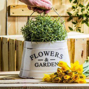 Doniczka na kwiaty ceramiczna Flowers and Garden