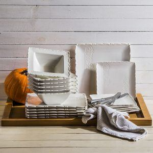 Komplet talerzy porcelanowych Duo Fischer Biały