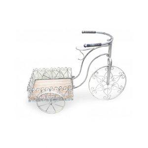 kwietnik stojacy metalowy mondex shabby chic rower bialy 300x300 - Ciekawe akcesoria ogrodowe: meble, ozdoby i gadżety do ogrodu!