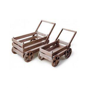 Drewniane kwietniki Mondex Wózki