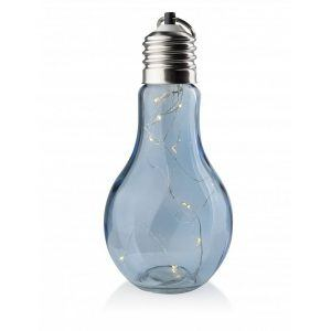 Lampion ozdobny szklany Mondex Żarówka