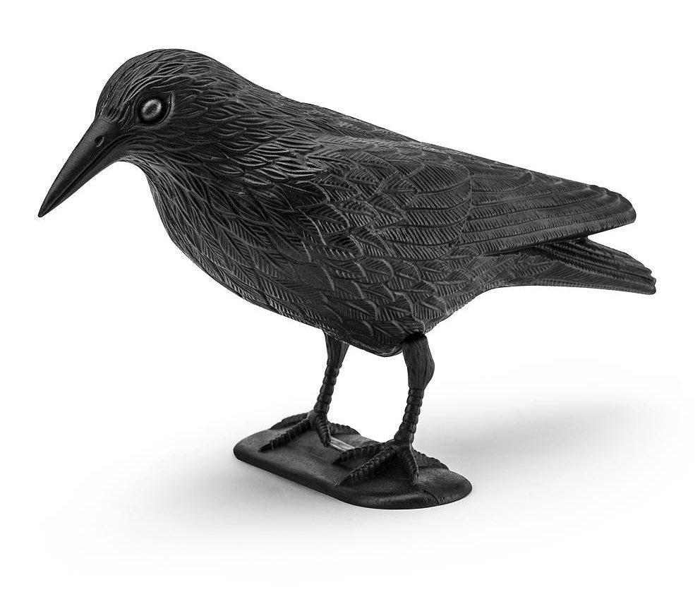 Odstraszacz ptaków wizualny plastikowy kruk