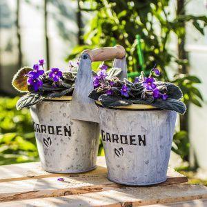 Osłonka na doniczki ocynkowana Garden