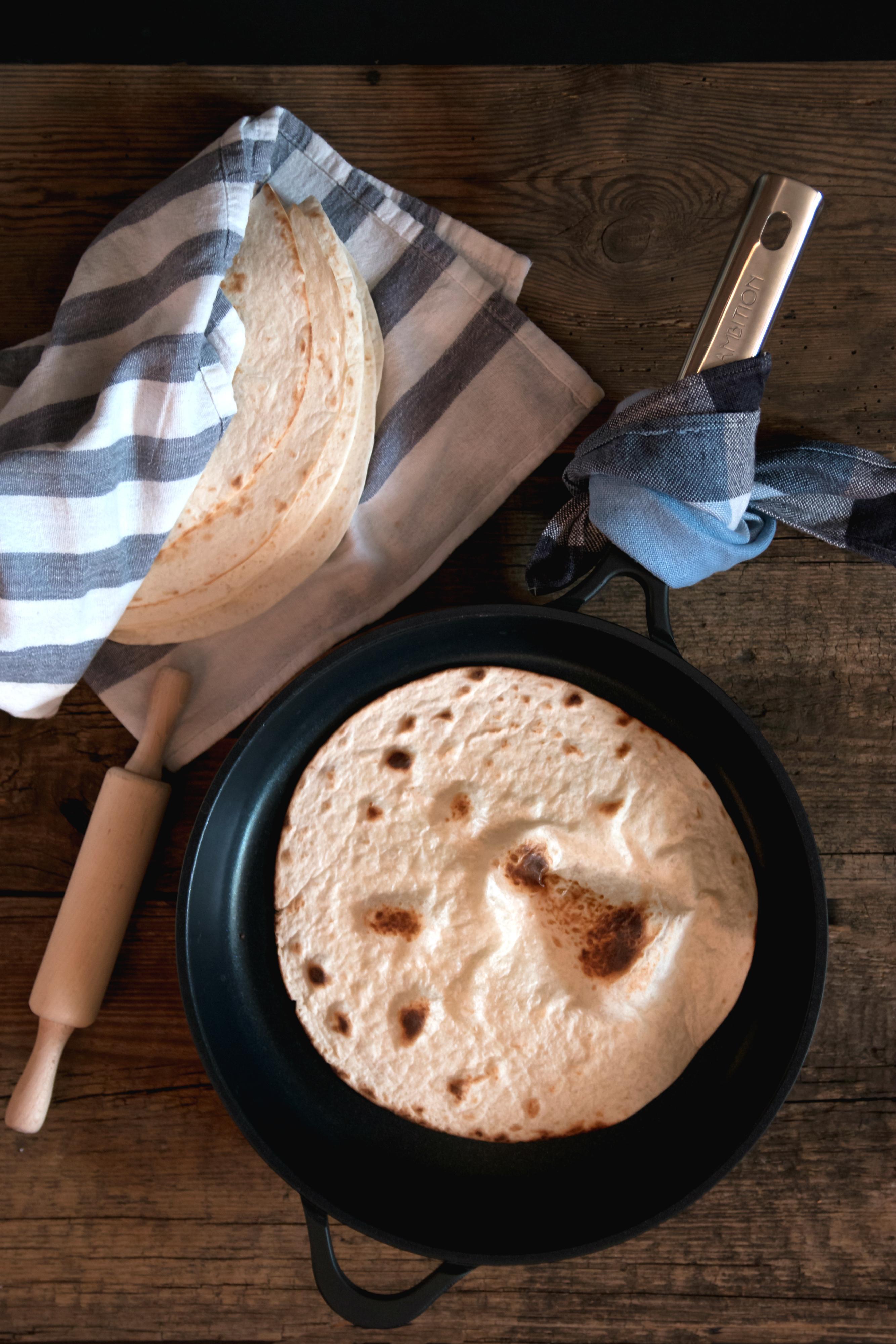 Domowe placki tortilla - przepis