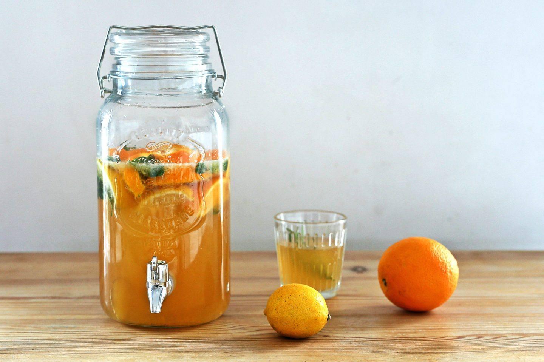 Domowa lemoniada cytrynowo - pomarańczowa - przepis