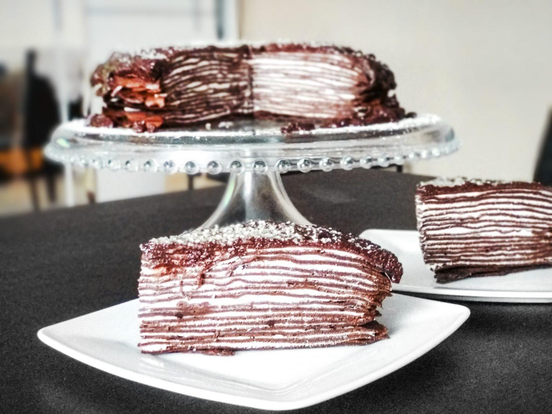 Tort naleśnikowy czekoladowy - przepis na słodko