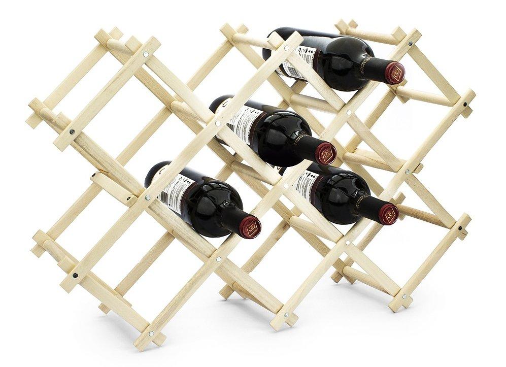 Stojak na wino drewniany składany Practic