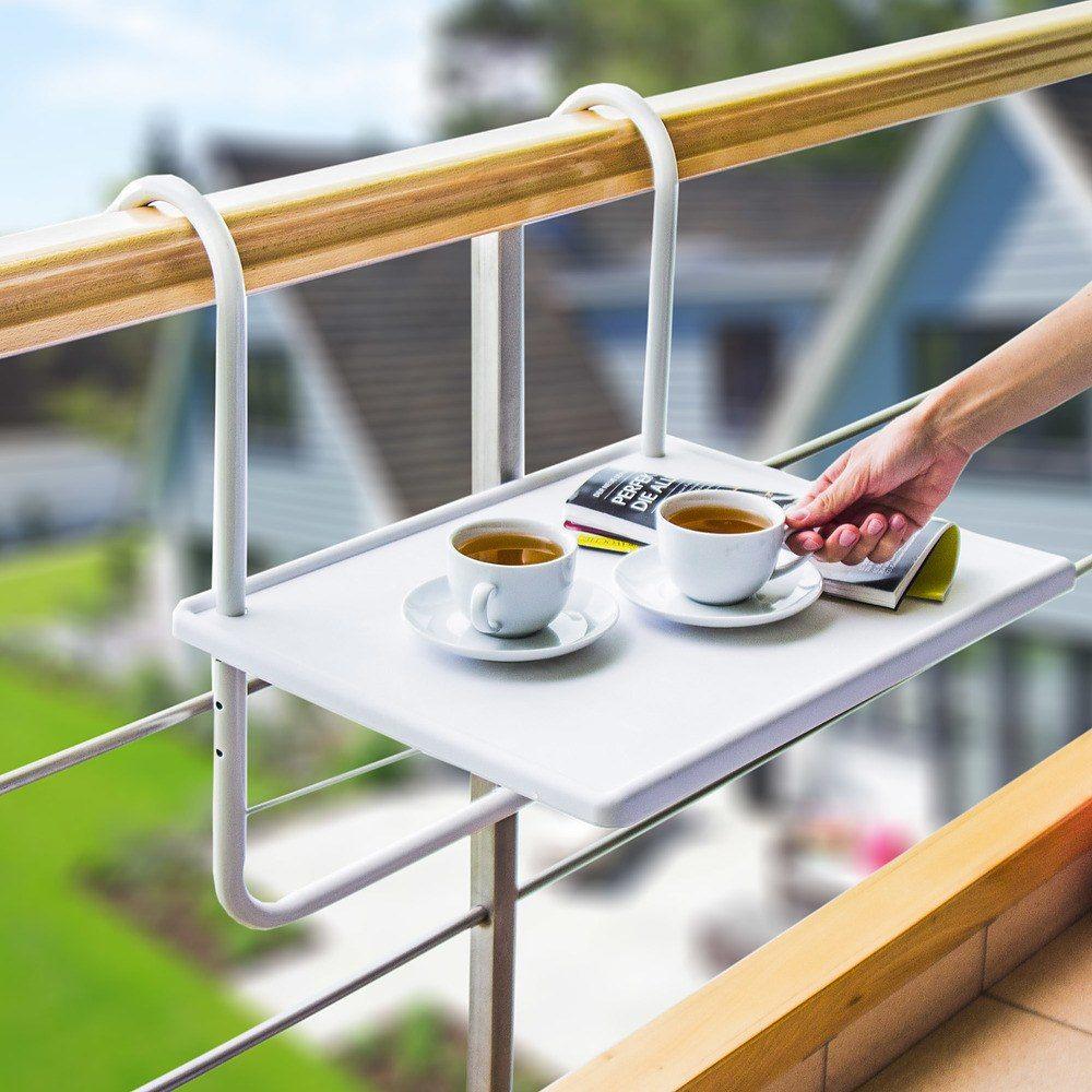 Stolik na balkon podwieszany plastikowy Ambiance
