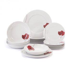 Komplet talerzy porcelanowych Chodzież Venus kwiaty