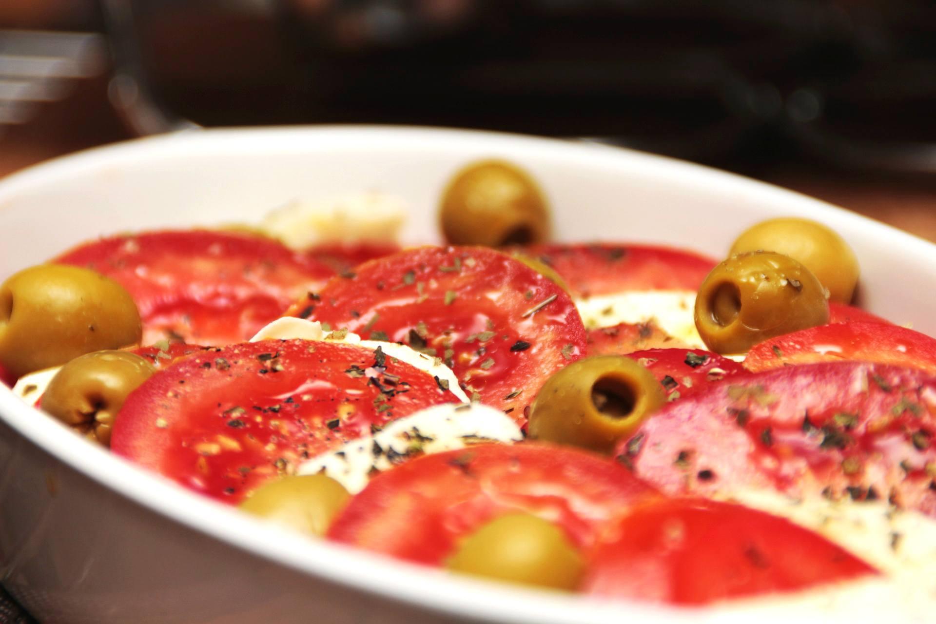 Pieczone pomidory z mozzarellą - przepis