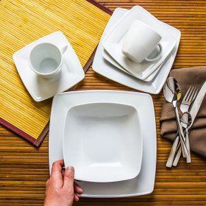 Serwis obiadowo - kawowy porcelanowy Lubiana Victoria
