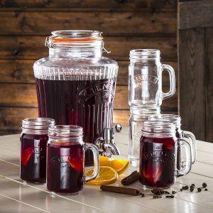 Zestaw do gzranego wina szklany Kilner