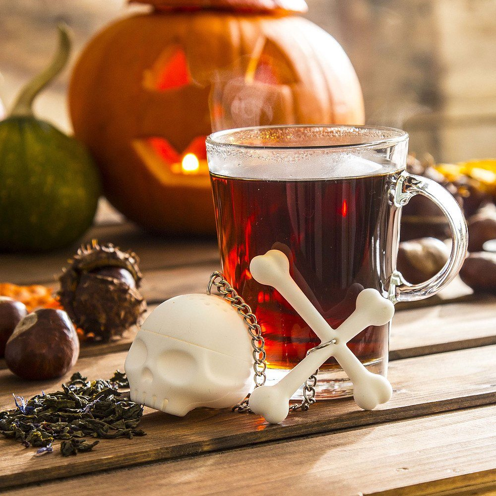 Zaparzacz do herbaty silikonowy Invotis Czaszka