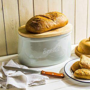 Chlebak ceramiczny z deską do krojenia Affek Design