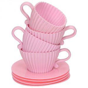 Foremki do muffinek silikonowe Cupcakes Babypink