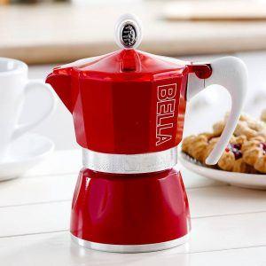 Włoska kawiarka aluminiowa ciśnieniowa Gat Bella