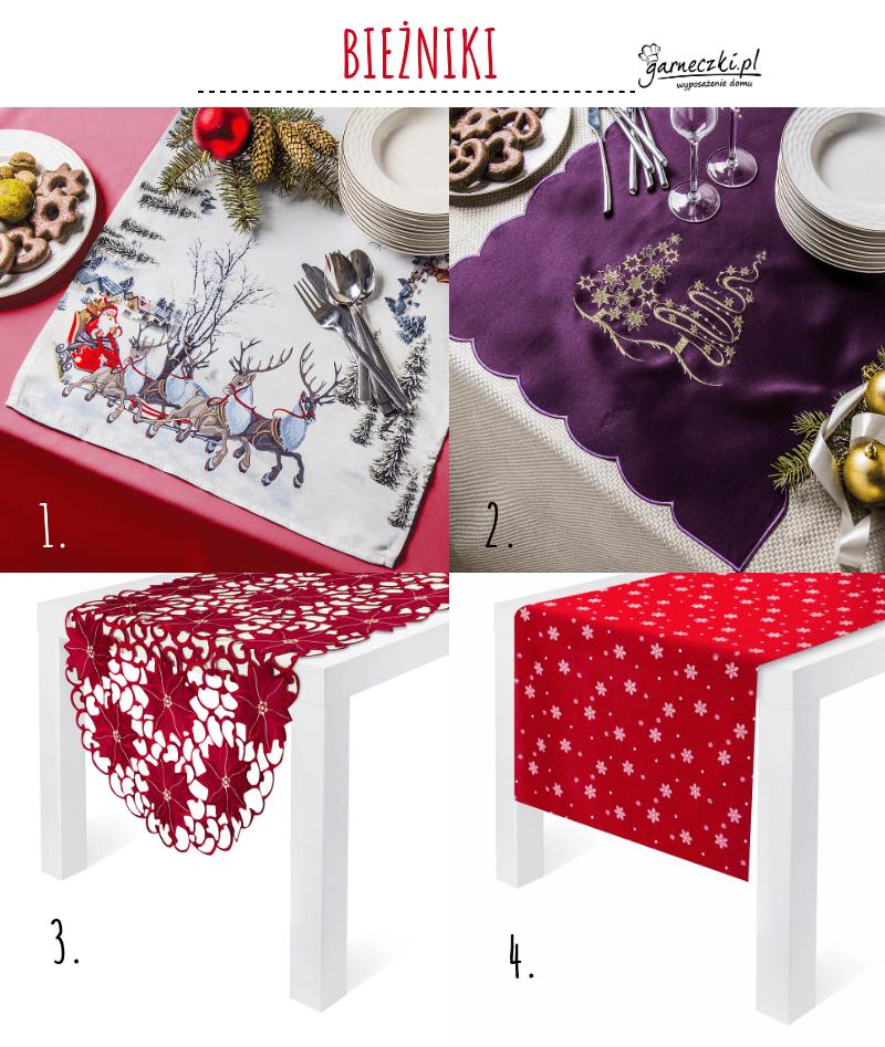 Bieżniki świąteczne na stół wigilijne