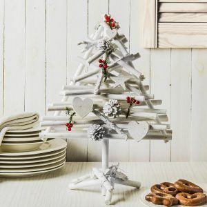 Choinka drewniana Happy Christmas