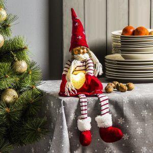 Figurka świąteczna LED GNOM z sercem
