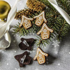 Ozdoby bożonarodzeniowe z filcu chatka