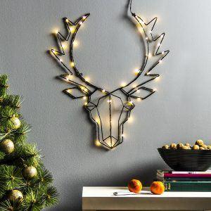Ozdoba bożonarodzeniowa LED metalowa Renifer
