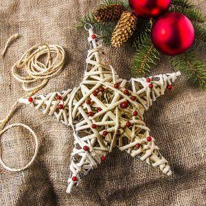 Ozdoba bożonarodzeniowa wiklinowa Gwiazda