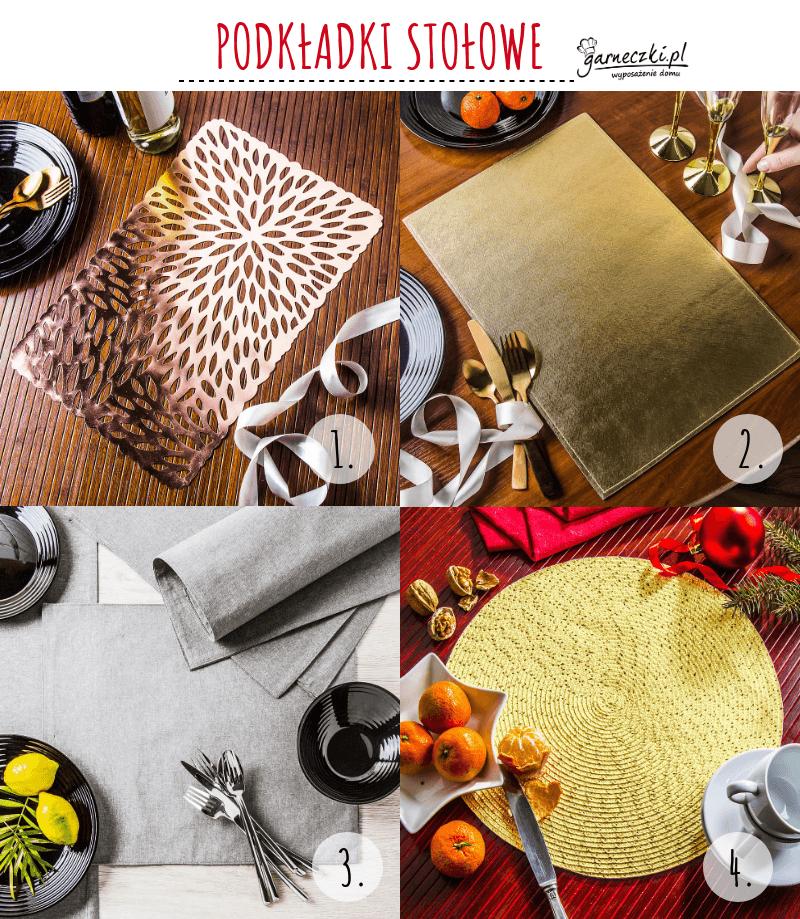 Podkładki stołowe na Boże Narodzenie