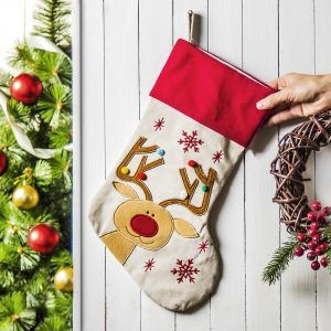 Skarpeta bożonarodzeniowa na prezenty Renifer