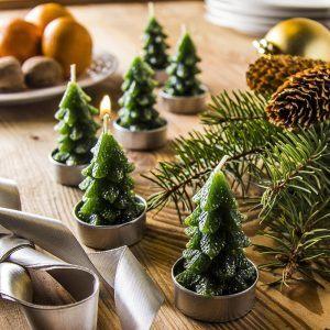 Świece ozdobne świąteczne choinki