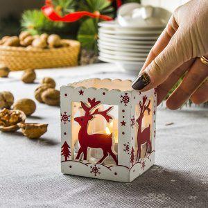 Świecznik świąteczny Tealight Jeleń