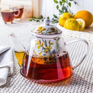 Dzbanek do herbaty szklany Duo