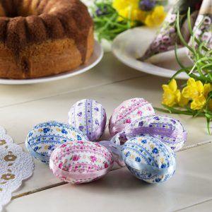 Jajka pisanki styropianowe w kwiatki