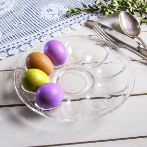 Talerz na jajka szklany Jasło
