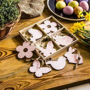 Zawieszki dekoracyjne drewniane Paw Spring