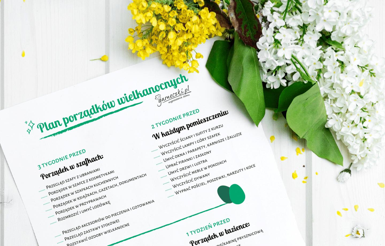 Wielkanocne porządki w domu – plan zadań do druku