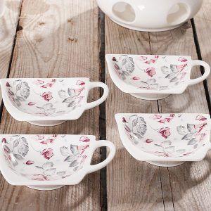 Komplet 4 podkładek na torebki od herbaty Duo Shabby Chic