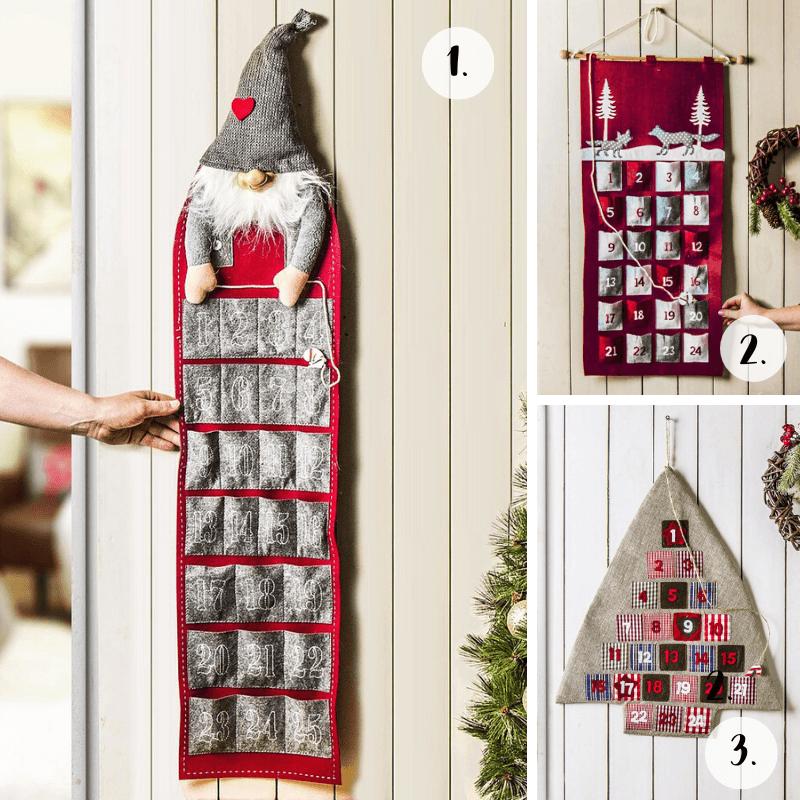 Ozdoby świąteczne: wiszące kalendarze adwentowe