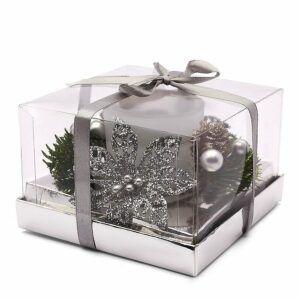 Stroik świąteczny srebrny