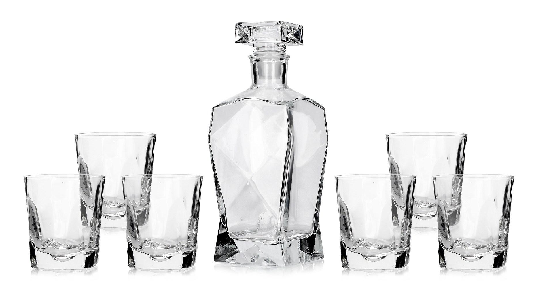 Karafka szklana do whisky