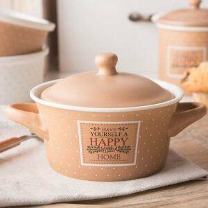 Naczynie do zapiekania ceramiczne Happy Home