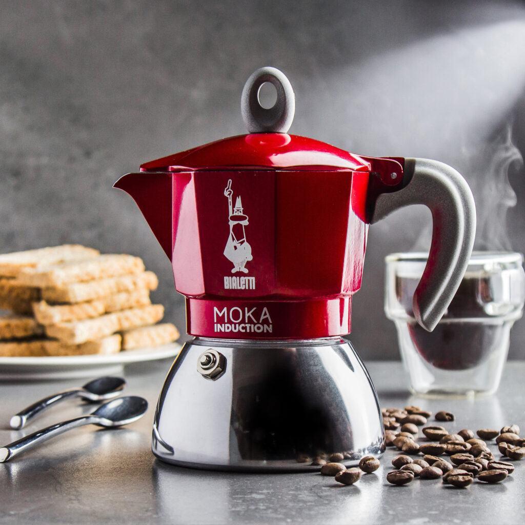 czerwona kawiarka