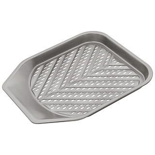 Blacha do frytek metalowa JUDGE CHIP TRAY SZARA 28 x 28 cm