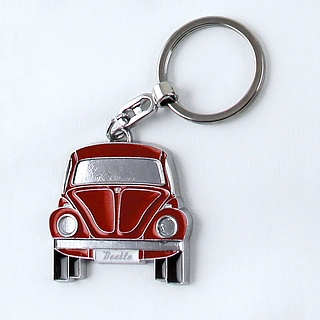Brelok do kluczy metalowy VOLKSWAGEN COLLECTION BY BRISA AUTOMOBILE CZERWONY