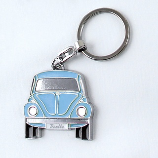 Brelok do kluczy metalowy VOLKSWAGEN COLLECTION BY BRISA AUTOMOBILE NIEBIESKI