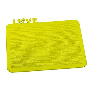 Deska do krojenia plastikowa KOZIOL HAPPY BOARDS LOVE ZIELONA 25 x 19,8 cm