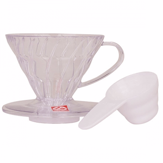 Dripper / Filtr do kawy plastikowy HARIO DRIPPER CLEAR V60-01