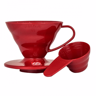 Dripper / Filtr do kawy plastikowy HARIO DRIPPER RED V60-01