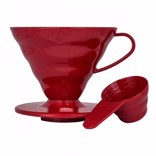 Dripper / Filtr do kawy plastikowy HARIO DRIPPER RED V60-02