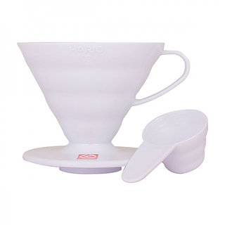 Dripper / Filtr do kawy plastikowy HARIO DRIPPER WHITE V60-02